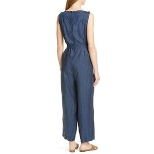 Eileen Fisher Pants - NWT Eileen Fisher Belted Organic Linen Jumpsuit M